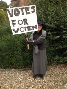 Bobby Collison as suffragette